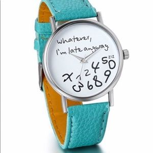Accessories - Teal Late Anyway Watch